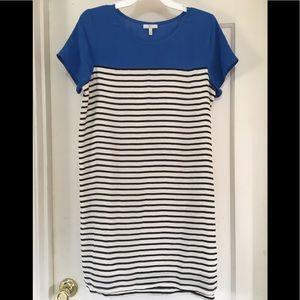 Joie Short Sleeve Striped Silk Dress